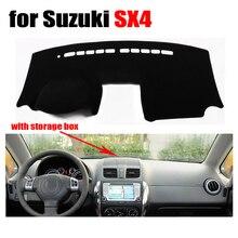 Приборной панели автомобиля чехлы для Suzuki SX4 с коробка для хранения Dashboard левым dashmat Pad Даш крышка авто аксессуары приборной панели