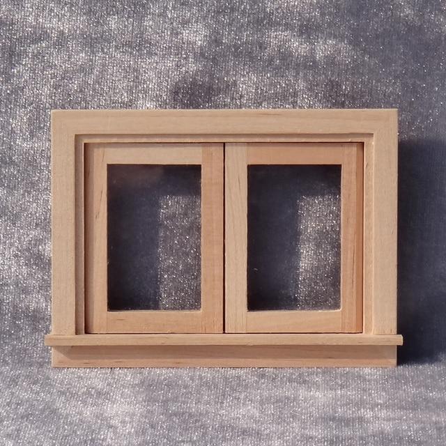 Scala 1:12 Miniature Dollhouse Finestra In Legno FAI DA TE Casa Di Bambola  Mobili