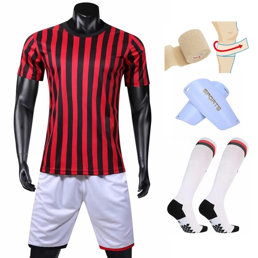e9eaf01d US $17.55. LOGO Custom 2019 2020 Home Soccer Jerseys Men Kids Soccer Sets  +Socks +Shin leggings