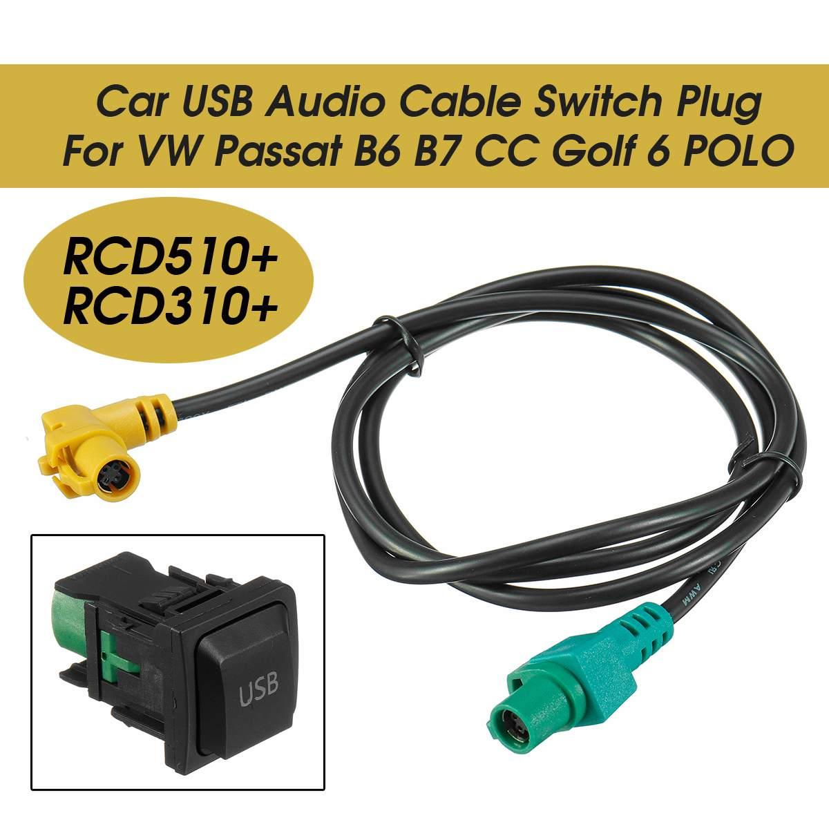 3 Style RCD510+ RCD310+ Socket Car USB Audio Cable Switch Plug for VW Passat B6 B7 CC Car Electronics Accessories