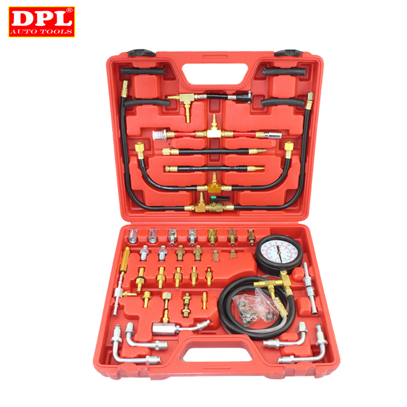 Universal Automotive TU-443 Deluxe Manometer Fuel Pressure Gauge Engine Testing Kit Fuel Injection Pump Tester automotive tools tu 15a diesel engine compression tester kit engine pressure gauge 0 1000psi