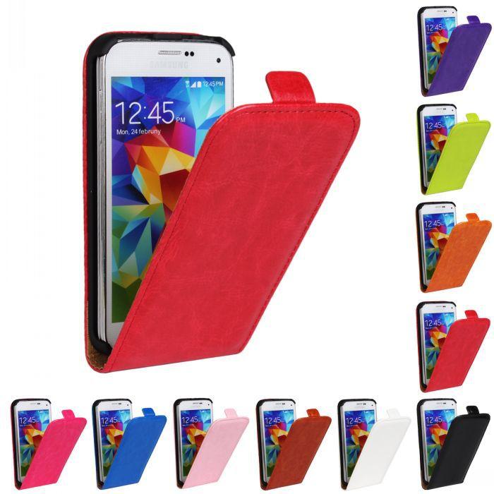 Rétro Livre De Luxe PU Cuir Flip Cover Case De Téléphone Flip vertical couverture sac pour S5 mini Pour Samsung Galaxy S5mini G800 FS