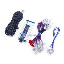 On sale New Arcade Games 4 In 1 LED USB Encoder Board PC To 2 Pin Arcade Stick For Android System For PS3 Games & Raspberry PI Retropie