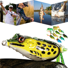 1/5/10pcs Soft Frog Fishing Lures Double Hooks 12g Top water Ray Artificial Minnow Crank Bait fishing tackle D40