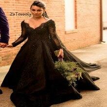 16615b3dc Vintage negro vestido de novia gótico elegante verano Bobo sin espalda  vestido de boda con cuentas