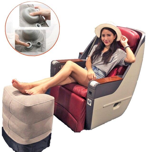 הדום אוויר כרית מתנפחת נסיעות רגל כרית שאר עבור מטוס רכב משרד רגל כריות כרית תמיכת זרוק חינם