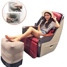 Cojín de aire para reposapiés, almohada inflable para viajes, reposapiés para avión, coche, oficina, apoyo para piernas, envío directo