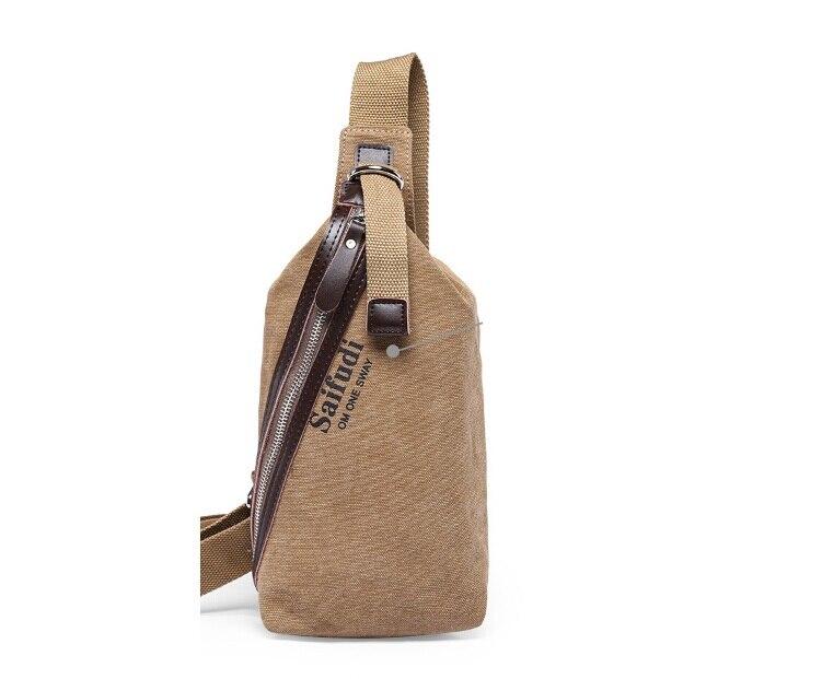 Hot Casual Mens Chest Pack Canvas Bags Multifunctional Small Male Messenger Bag Cool Men Shoulder Bag LJ-250