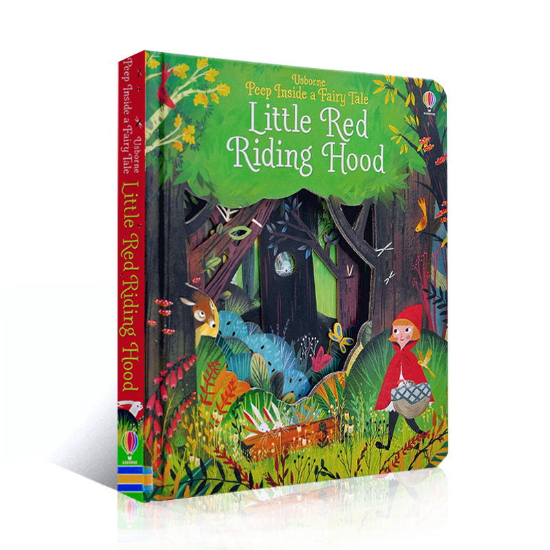 English Educational A Fairy Tale Little Red Riding Hood 3D Flap Picture Books Baby Children Reading Book