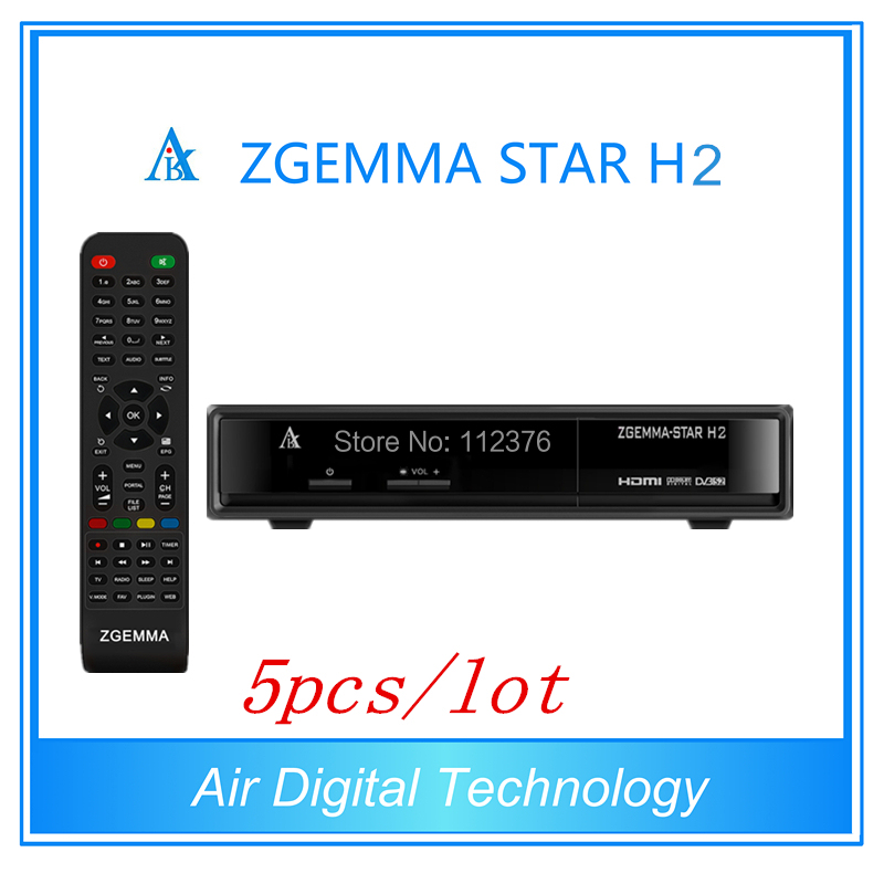 5pcs/lot Best Offer 751MHz CPU Zgemma Star H2  HD Combo DVB-S2 DVB-T2/C Satellite Receiver Low Cost in Stock now купить