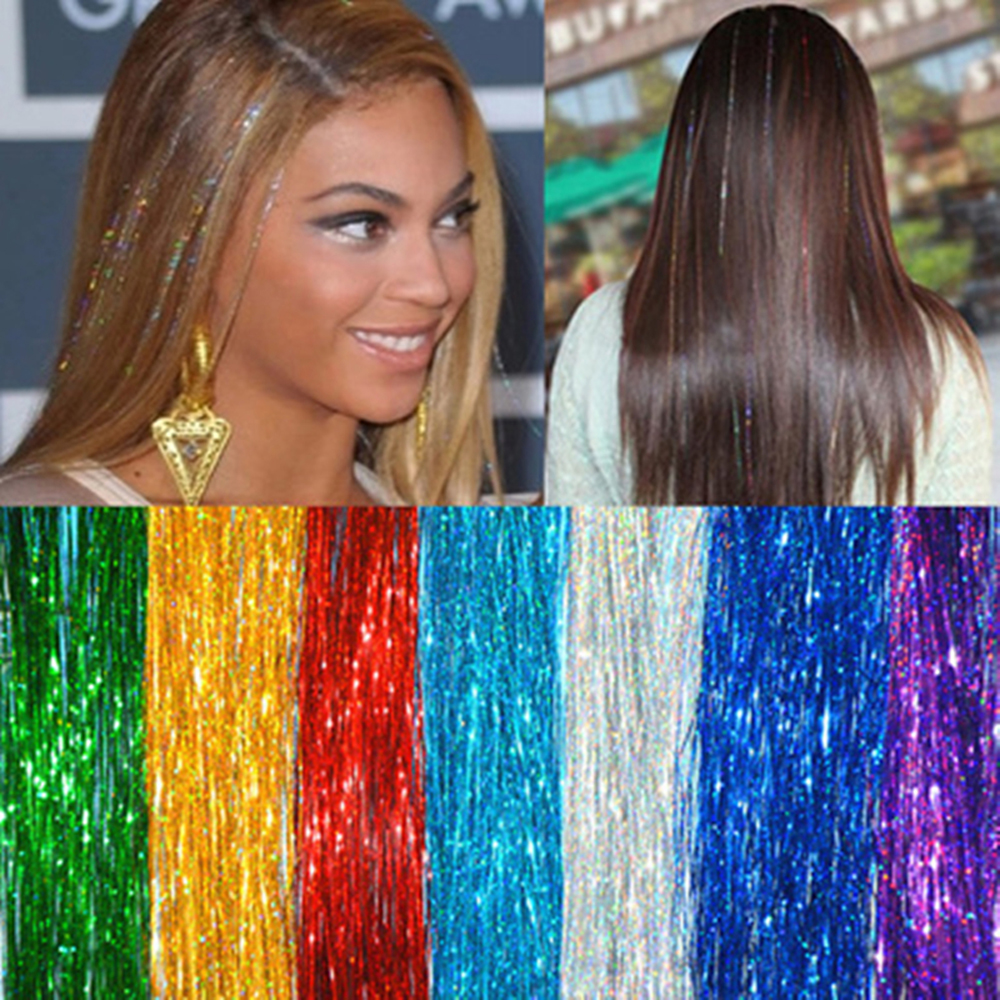 37 150Strands/pcs Hair Tinsel Bling 14 Colors For Women Girls Hairstyling