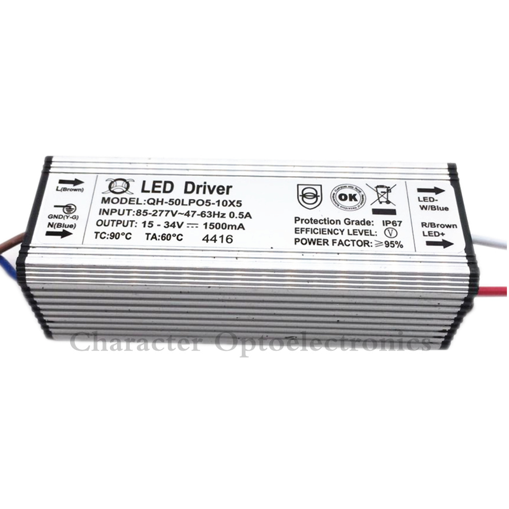 1500mA 50W LED Driver DC15-34v Power Supply IP67 Waterproof Constant Current Dri