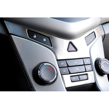 купить Stainless Steel Car Interior Front Central Console Panel Decoration Trim Styling Car-covers For Chevrolet Cruze 2009-2014 по цене 1471.71 рублей