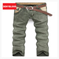 Casual Pants Men Chinos Pants Khaki Mens Chinos Pants Slim Spliced Panelled Twill Vintage Wash Men Chino Trousers Size 28-36 336