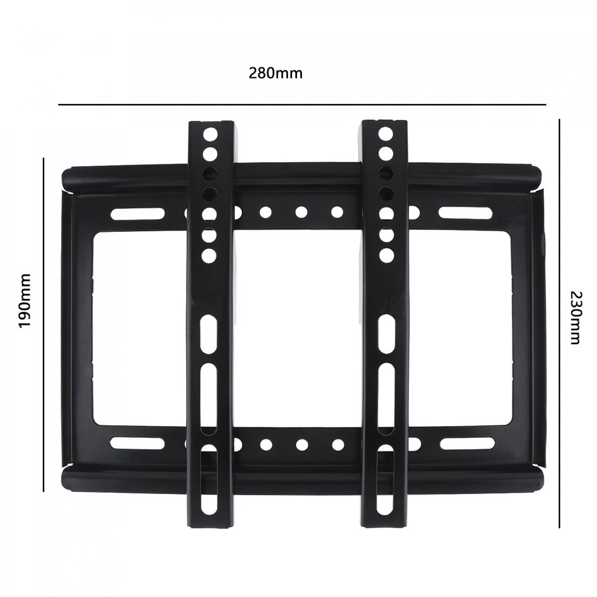 Image 2 - Universal Thin 25KG 14   42 Inch TV Wall Mount Bracket Flat Panel TV Frame with Gradienter for LCD LED Monitor Flat PanTV Mount   - AliExpress