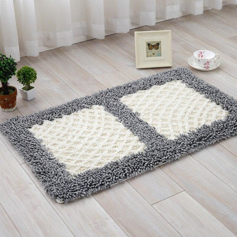 Plaid/Flower/Foot Pattern Bathroom Mats And Rugs, Anti Slip Rugs Mats In The Bathroom, Bathroom Carpet Set Mat Carpet Alfombra