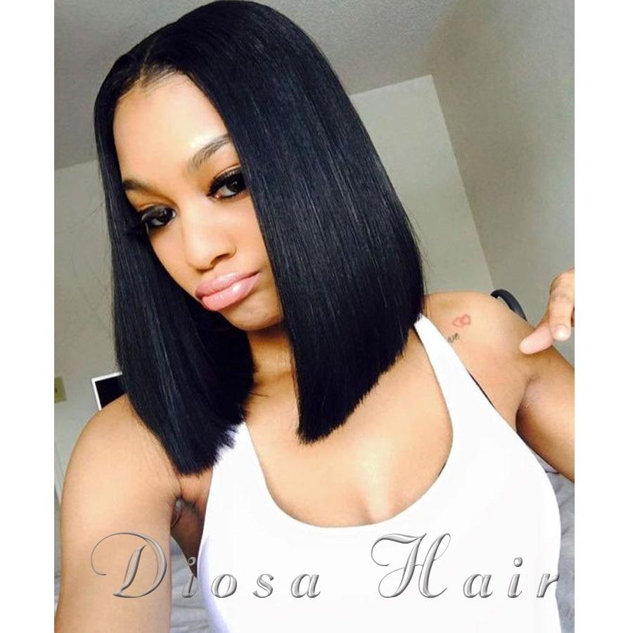 8a Full Lace Human Hair Bob Wigs Straight Brazilian Virgin