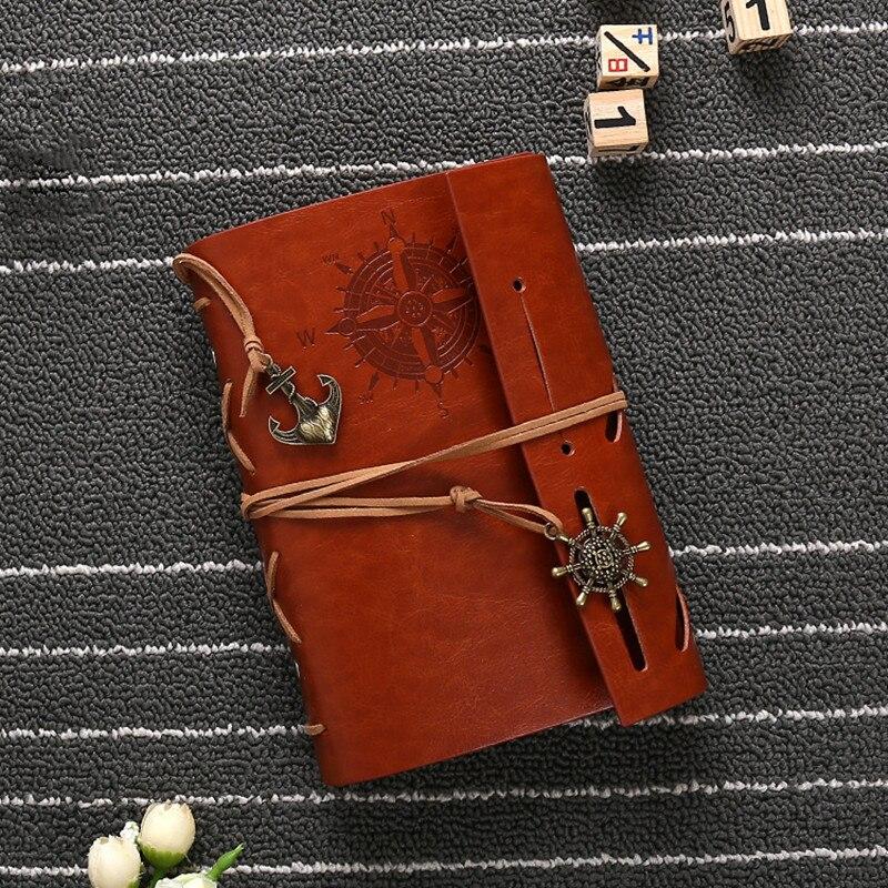 Hot sale läder journalen resenärer anteckningsbok vintage - Block och anteckningsböcker - Foto 6