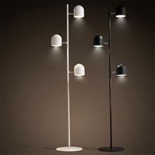 Modern Black/white Loft Led Floor Lights Bedroom Living Room Lighting LED Lamps Touch Switch Standing Lamp Luminaria Avize