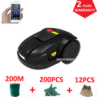 Cheapest intelligent robot lawn mower E1800S garden grass cutting machine With 2.2AH Li ion Battery, Water proofed charger