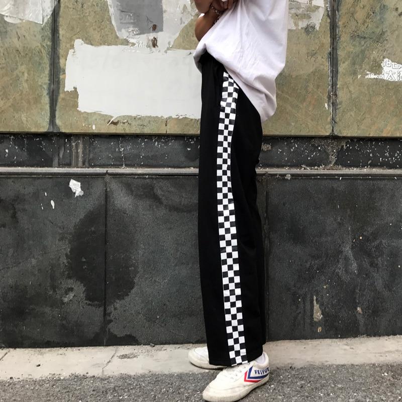 HTB1P8qtSFXXXXXSapXXq6xXFXXXC - Checkerboard Pants Punk Black White Squares Cool  Street Trouser JKP003
