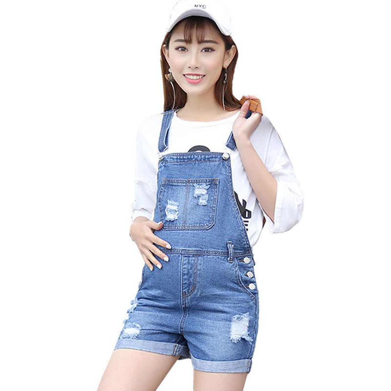 4ec585dd47876 Adjustable Maternity Denim Overalls Straps Shorts For Pregnant Women  Clothes Prop Belly Pregnancy Suspenders Braced Jumpsuits
