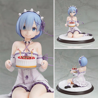Anime Re:Life in a different world from zero figures Rem birthday cake ver. PVC action figure collection model toys for gift