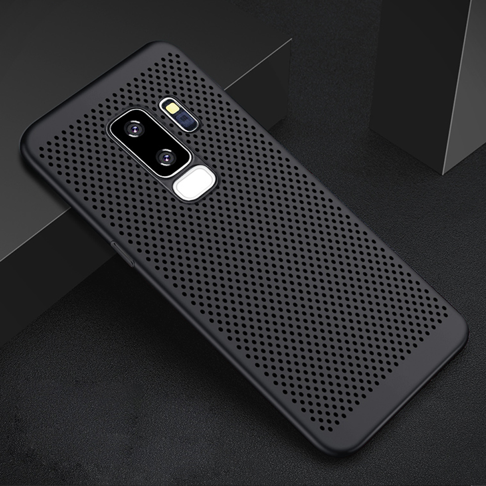 Ultra Slim Grid Heat Dissipate Phone Case For Samsung Galaxy S9 S8 S10 Plus Note 9 8 Back Cover Case For Samsung S10 lite Case