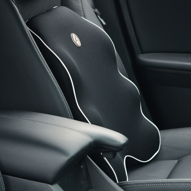 Car Seat Cushion Lumbar Support Memory Foam Lower Back Pain For Office Chair Auto