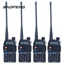 4 шт./лот baofeng уф-5r портативной рации портативные радио dual band vhf/uhf 136-174/400-480 мГц трансивер двухстороннее радио