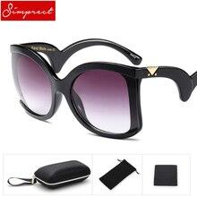 SIMPRECT 2018 Nova Oversized Óculos De Sol Das Mulheres de Luxo de Alta  Qualidade Óculos de 44001d4a3b