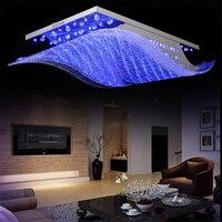 Wonderland Remote Controls Light Change 4 Color Modern LED Crystal Iron Ceiling Lights Lustre Lamp for Home Living Room PLL 700
