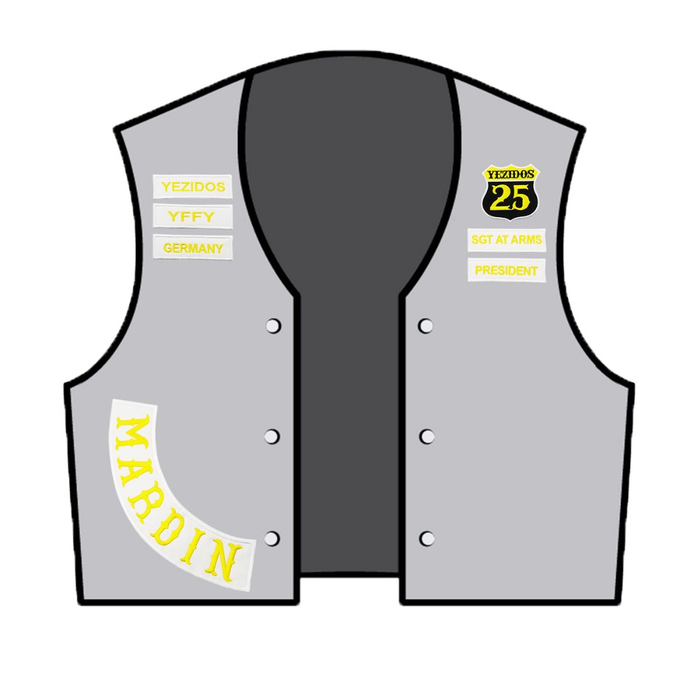 YEZIDOS Biker Motorcycle Vest Rider Embroidered Iron On Back of Jacket Patch White twill fabric Free Shipping DIY Eco-Friendly1 (6)