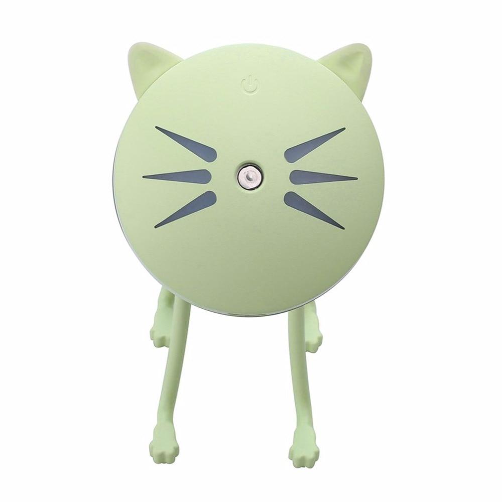 Ultrasonic Mini Cat Shape USB Air Humidifier Diffuser Cartoon Mist Sprayer For Office Home Car LED Night Light Purifier Atomizer