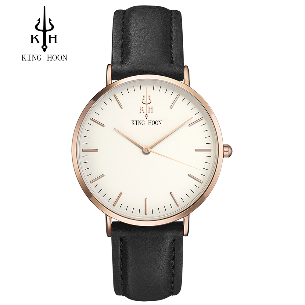 KING HOON 2017 New Fashion Casual Mens Watches Top Brand Luxury Leather Business Quartz Watch Men Wristwatch Relogio Masculino baosaili fashion casual mens watches top brand luxury leather business quartz watch men wristwatch relogio masculino bs1038