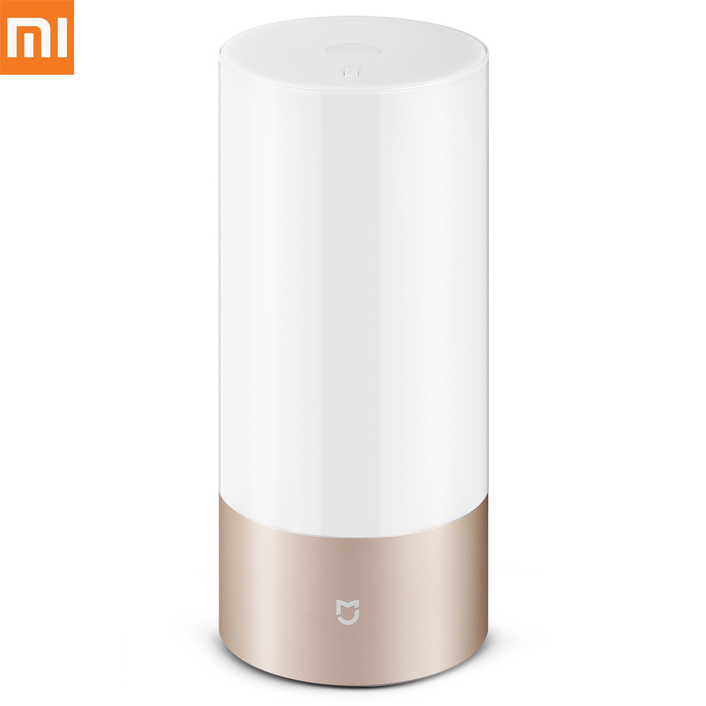 Xiaomi Mijia Yeelight Bedside Lamp Night Light with OSRAM LED RGBW Touch Bluetooth Control WiFi Connection ( Update Version )