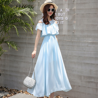 Bride Dress 2018 Summer Sexy Off Shoulder White Women Chiffon Dress Boho Beach Holiday Party Long