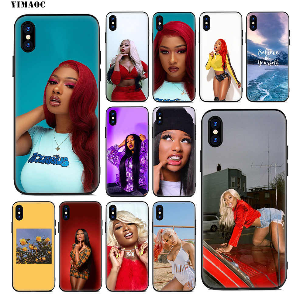 Мягкий силиконовый чехол YIMAOC Megan The stallion Rapper для iPhone Xr Xs Max X или 10 8 7 6 6 S Plus 5 5S SE