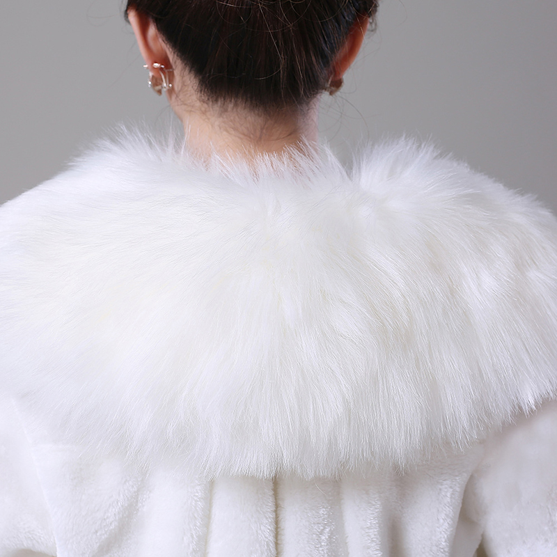 Купить с кэшбэком New Wedding Jacket Bridal Wrap Faux Fur Shawl Cape Stole Warm Coat Women Bolero Shrug Cloak Wedding Accessories