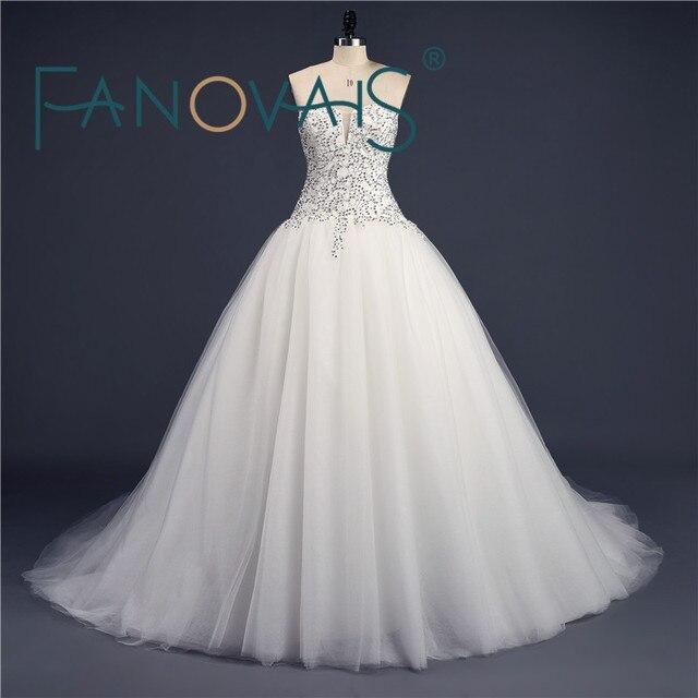 Luxurious Wedding Dresses Full Beading Wedding Gowns Elegant ...