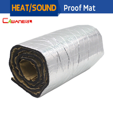 Cawanerl 1 шт. 6 мм Tick доказательство автомобиля тепла глушитель щит Turbo Выпускной Deadener звукоизоляции Коврики Алюминий Фольга 50 см x 100 см