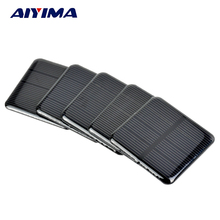 AIYIMA 10pcs Epoxy Solar Panels 2V 160MA Polycrystalline Silicon Solar Cells Solar 50*50mm DIY Battery Charger Painel Solars