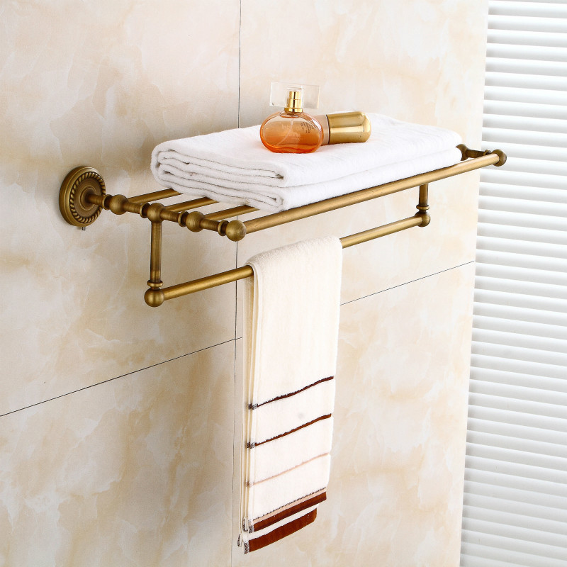 All Antique Copper Bathroom Towel Rack Shelf Bath Towel Rack European-style Luxury Bathroom Pendant FY801-8 new arrival antique copper with ceramic towel rod rack shelf towel rack fashion bathroom accessories luxury bath towel hj 1812 page 1