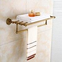 All Antique Copper Bathroom Towel Rack Shelf Bath Towel Rack European style Luxury Bathroom Pendant FY801 8