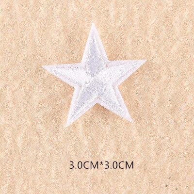 1 шт. смешанные нашивки со звездами для одежды, железная вышитая аппликация, милая нашивка эмблема на ткани, одежда, аксессуары для одежды DIY 61 - Цвет: 61V