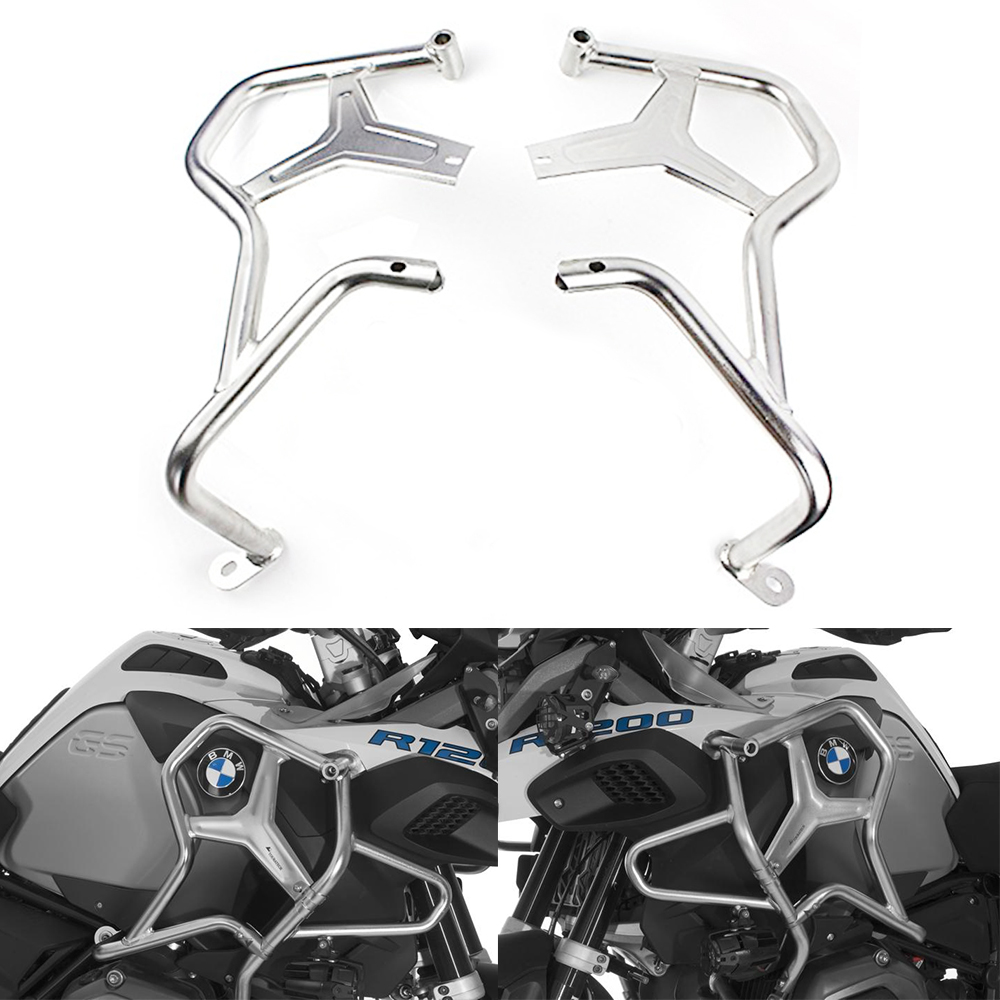 For <font><b>BMW</b></font> R1200GS lc ADV 2014-2018 <font><b>Adventure</b></font> r <font><b>1200</b></font> <font><b>gs</b></font> EXTENSIONS UPPER CRASH BAR Bumper Stainless Steel Tank Guard Protector image