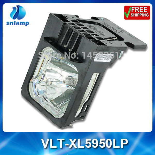 Compatible replacement projector bulb lamp VLT-XL5950LP with housing for XL5900 XL5900U XL5900LU XL5950U XL5950 XL5950L replacement lamp bulb with housing vlt xd206lp for md307x md307s xd206u sd206u sd206