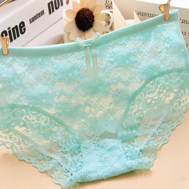 Transparent Underwear Women Lace Soft Briefs