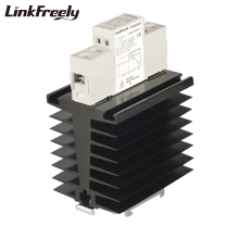 цена TRA48D80H Heat Sink SSR Solid State Relay Din Rail 80A DC AC 5V 12V 24V 32VDC Input 42-480VAC Output Automation Relay Switch онлайн в 2017 году