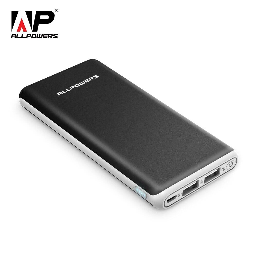 ALLPOWERS Banco de la energía 22000 mAh batería externa portátil Dual USB carga rápida para el iPhone X Xiao mi a2 nota 8 Xio mi Honor